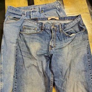 🤴👖👖 Wrangler Denim Jeans 34 x 32 2 pairs